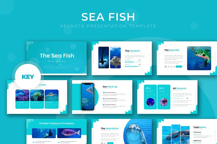 Thumbnail for Sea Fish - Powerpoint Template