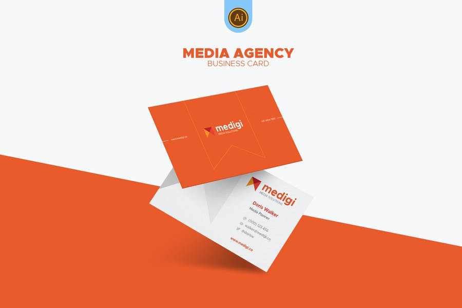 Media Agency Business Card 01