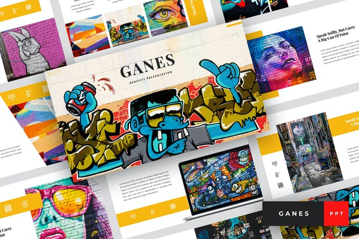 Thumbnail for Ganes - Graffiti PowerPoint Template