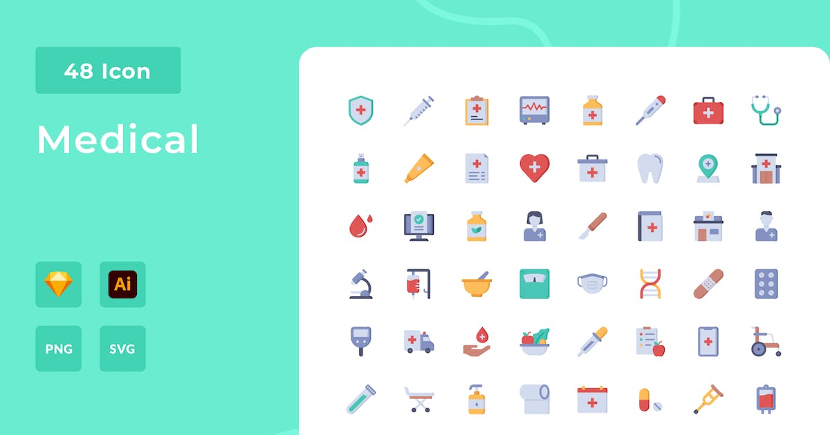Download Medical Flat Style Icon Pack by usedesignspace