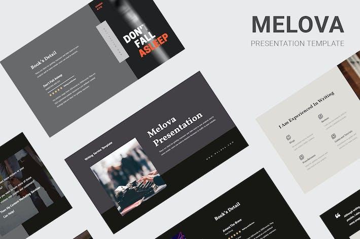 Thumbnail for Melova - Writing Services Keynote