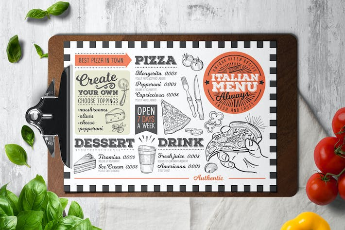 Thumbnail for Pizza Food Menu Template