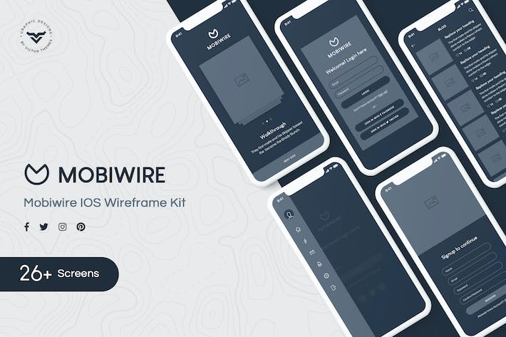 Thumbnail for MobiWire Mobile Wireframe Kit