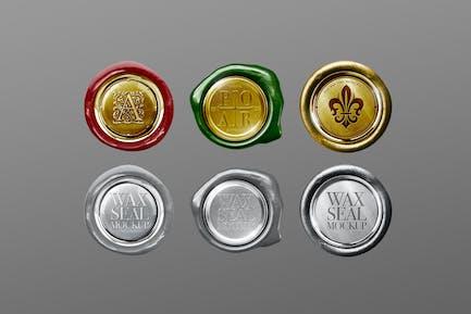 Wax Seal Mockup Metal Golden Chrome