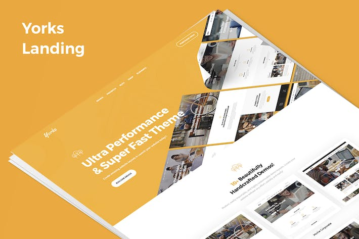 Thumbnail for Yorks Demo Landing PSD Template