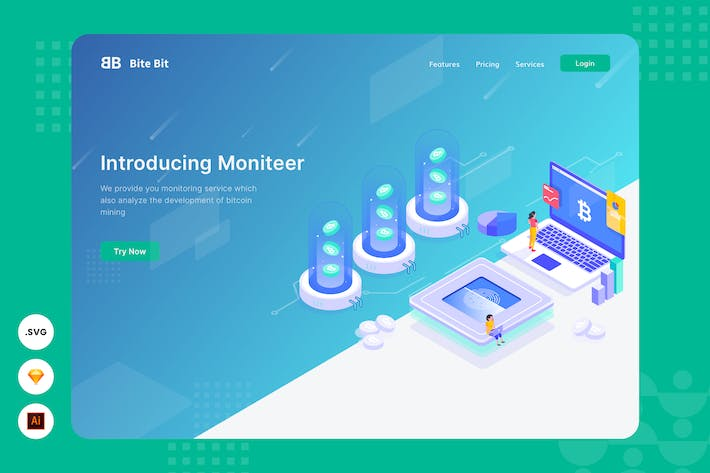 Thumbnail for Finance Monitoring - Website Header - Illustration