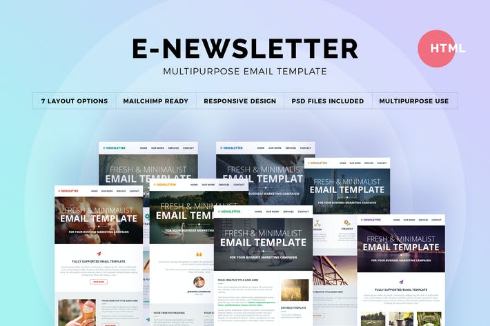 Thumbnail for E-Newsletter - Multipurpose Email Template