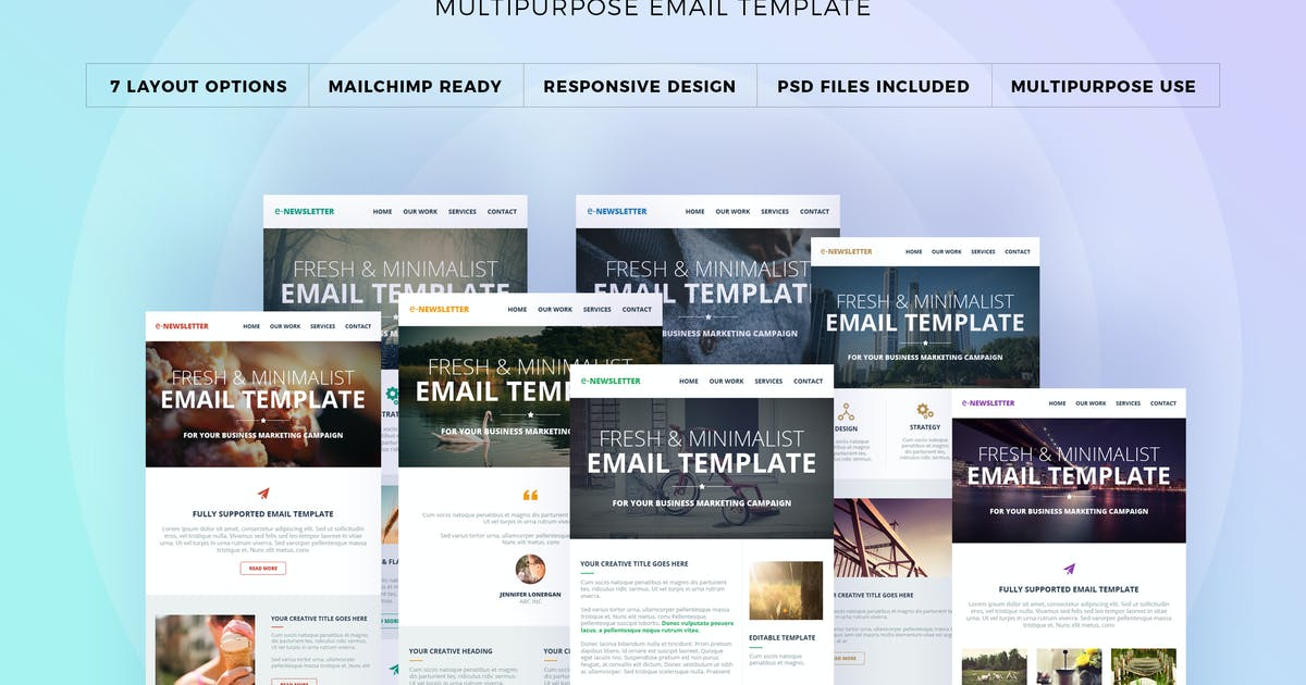 Download E-Newsletter - Multipurpose Email Template by webduck