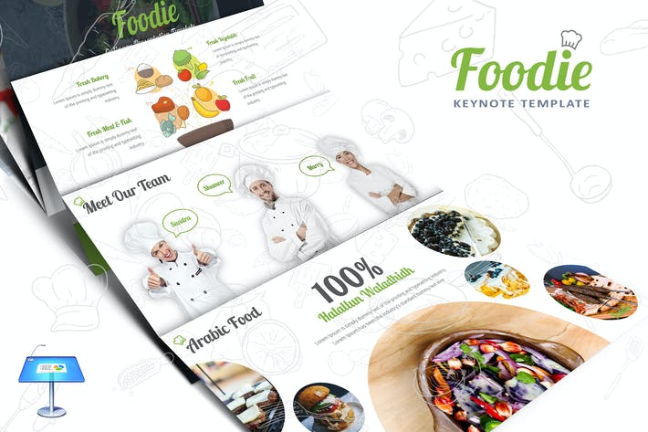 Thumbnail for Foodie Keynote Template
