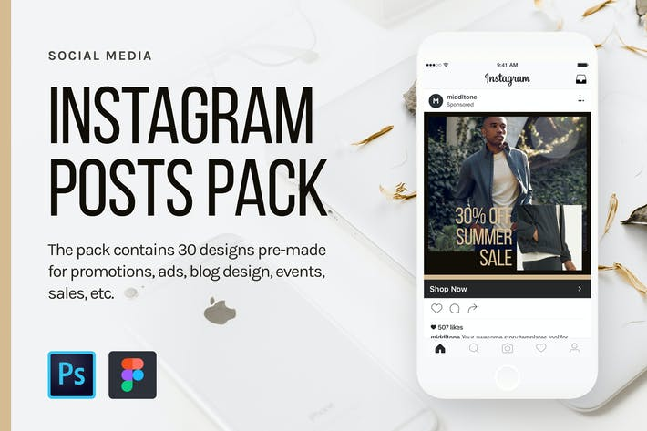 Thumbnail for Instagram Posts Pack
