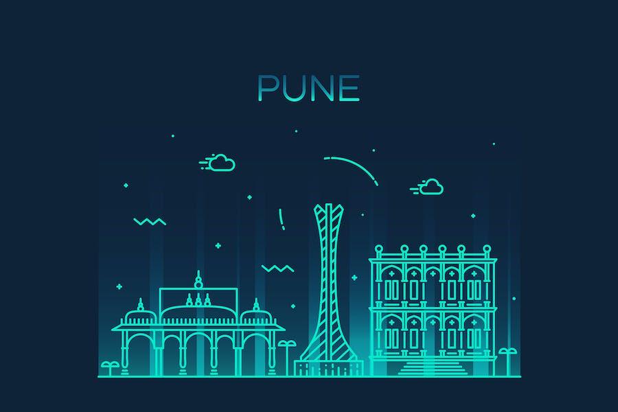 Pune skyline, India