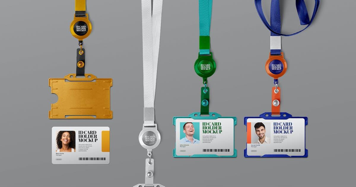 Download ID Card Holder Mockup Horizontal Retractable Reel by Easybrandz-AvelinaStudio
