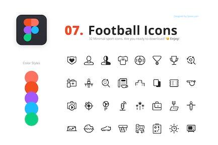 32 Football Icons
