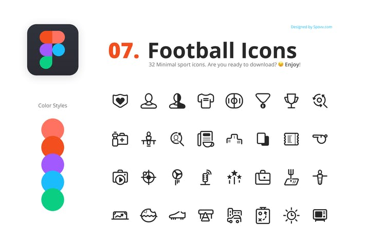 Thumbnail for 32 Football Icons