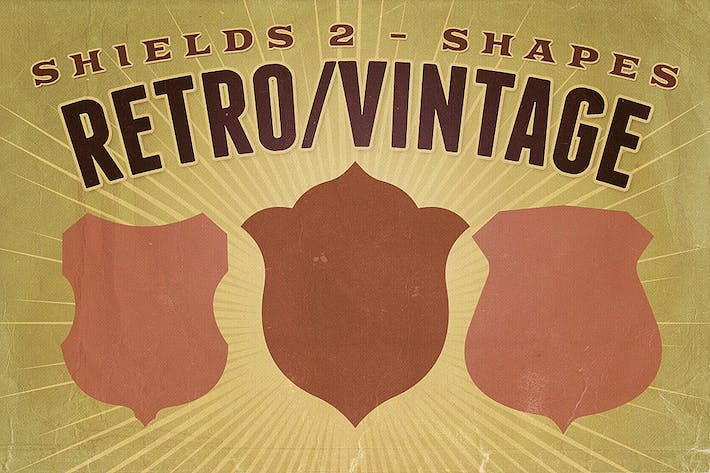 Thumbnail for Retro/Vintage shapes - Shields 2