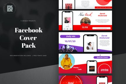 Podcast Webinar Facebook Cover Pack