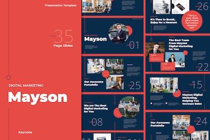Шаблоны Keynote цифрового маркетинга