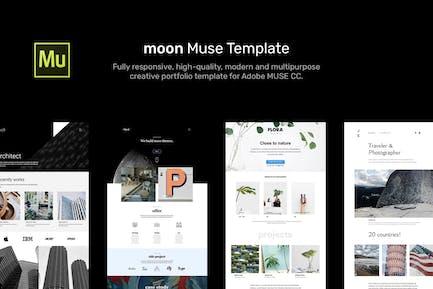 moon - Responsive Portfolio Adobe Muse Templates
