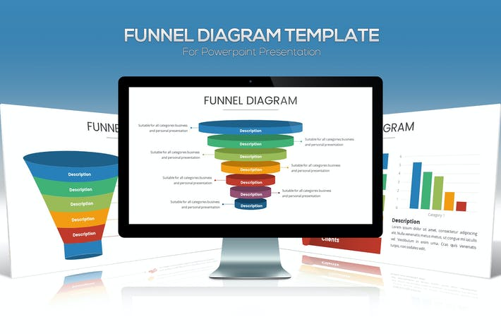 Thumbnail for Funnel Chart Template for Powerpoint Presentation