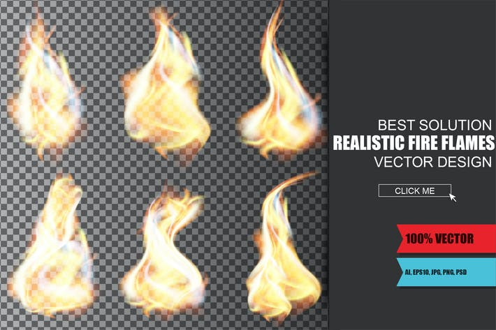 Thumbnail for Realistic Fire Flames Vector