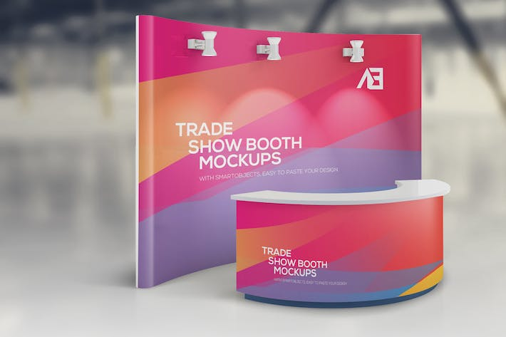Thumbnail for Trade Show Booth Mockups Vol2