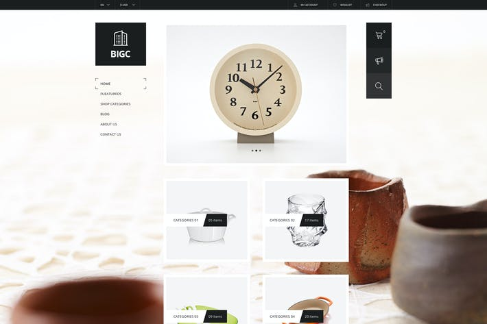 Thumbnail for Big Shop - Responsive HTML Template