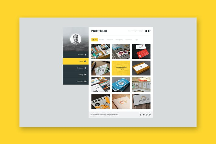 Thumbnail for Premium Layers: HTML vCard & Resume Template