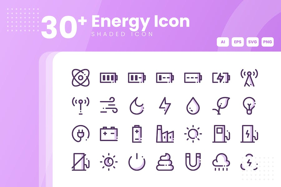30+ Energy Icon Collection
