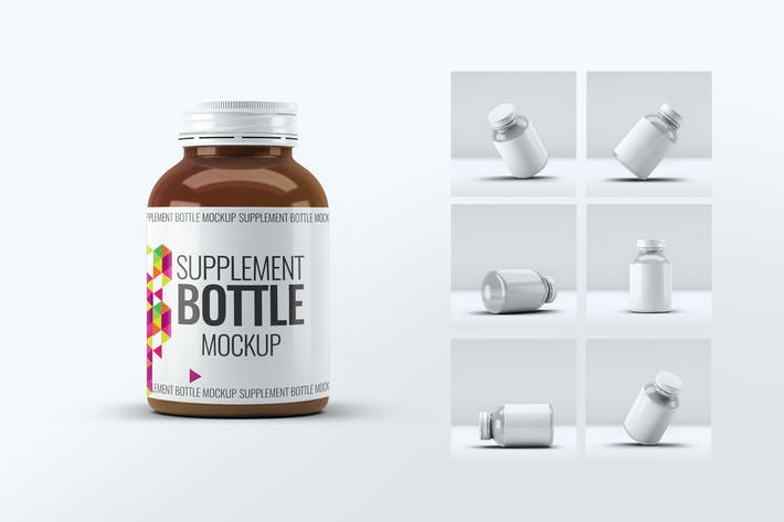 Supplement Bottle Mock-Up