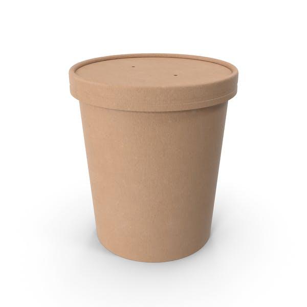 Крафт-бумага Food Cup с вентилируемой крышкой одноразовое ведро для мороженого 32 унции 900 мл