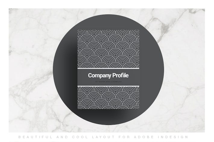 Black Company Profile Layout