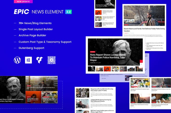 Thumbnail for Epic News Elements - Elementor & WPBakery Add-ons