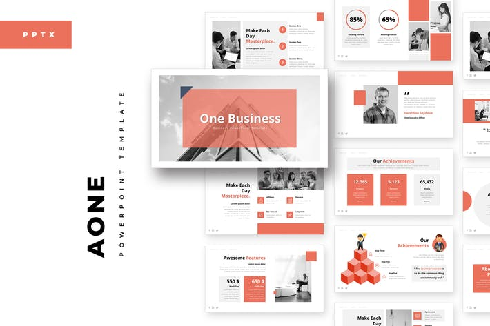 Thumbnail for AOne Business PowerPoint Template
