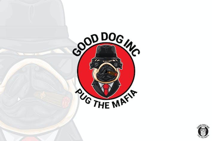 Thumbnail for Pug Dog Mafia Mascot Logo