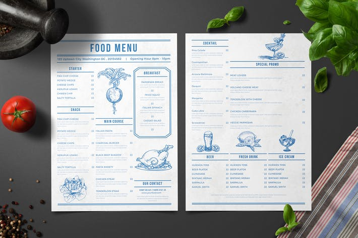 Thumbnail for Simple Modern Menu