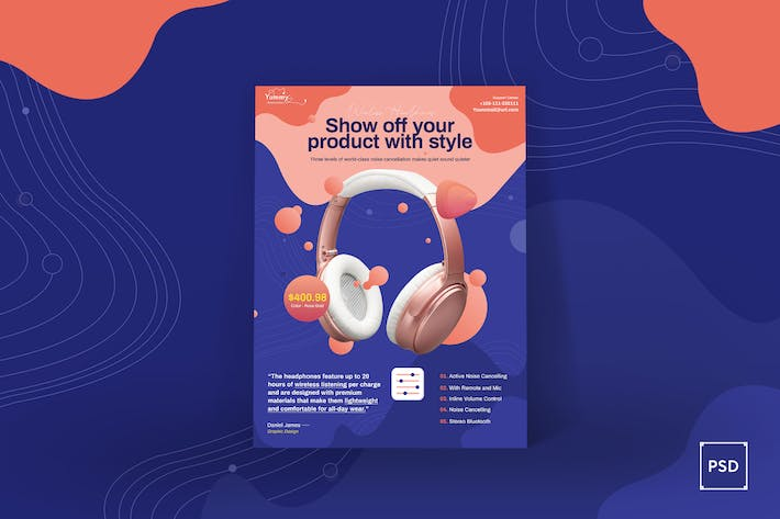 Thumbnail for Digital Products Sale Poster PSD Template