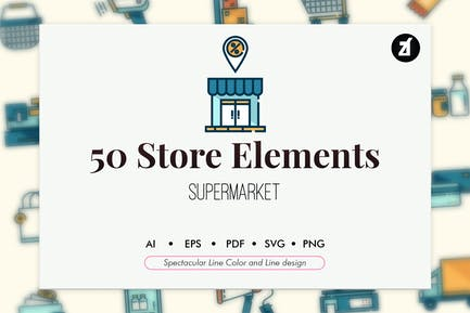 50 Supermarket elements