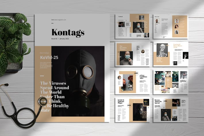 Thumbnail for Kontags | Magazine Template