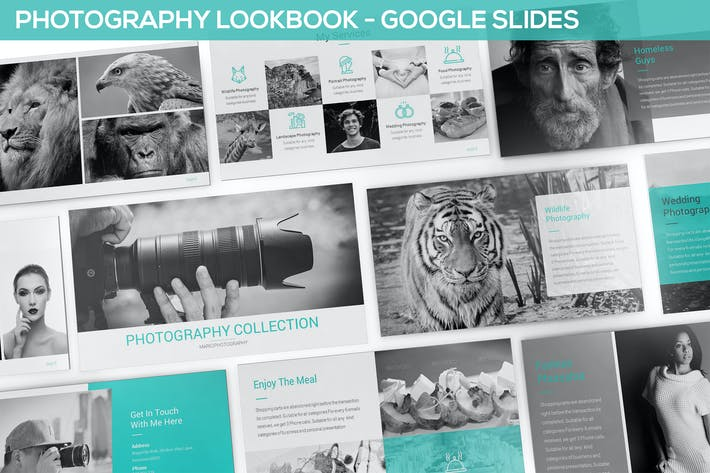 Thumbnail for Photography Lookbook Google Slides Template