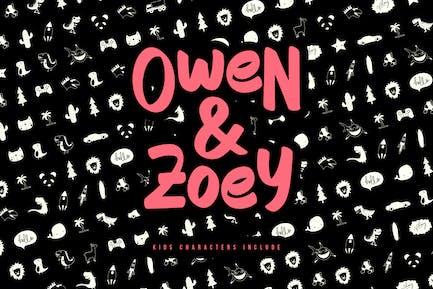 Owen Zoey Kids Characters Duo
