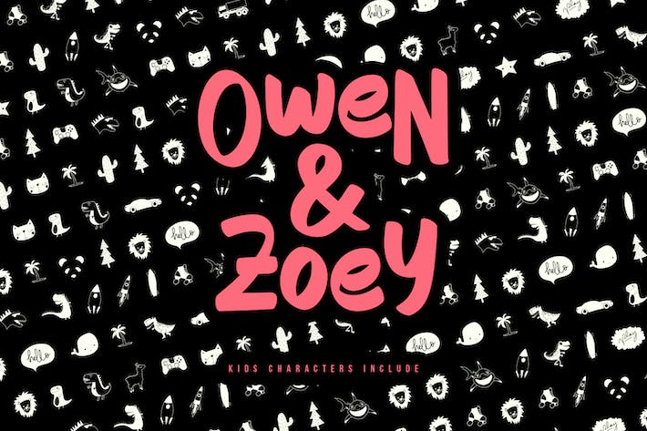Owen Zoey Kids Characters Duo