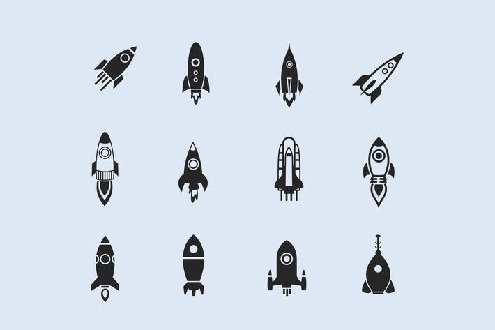 Thumbnail for 12 Rocket Icons