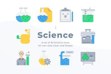 30 Scientific study icons - Flat