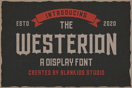 Westerion a Vintage Display Font