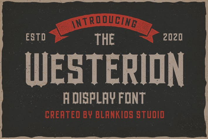 Westerion a Vintage Display Font