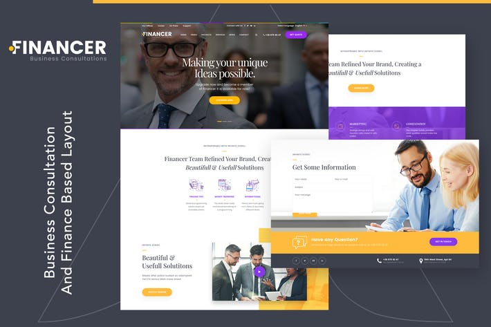 Thumbnail for Financer | Business Consultations Template