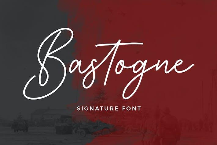 Thumbnail for Bastogne Signature Font