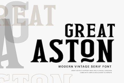 Great Aston Business Serif Font