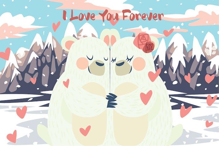 Thumbnail for Paar Bären - Vektor illustration