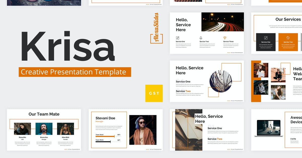 Download Krisa - Creative Google Slides Template by alexacrib